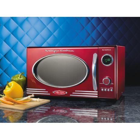 four micro ondes fc810 de sim o micro ondes rouge retro club electromenager. Black Bedroom Furniture Sets. Home Design Ideas